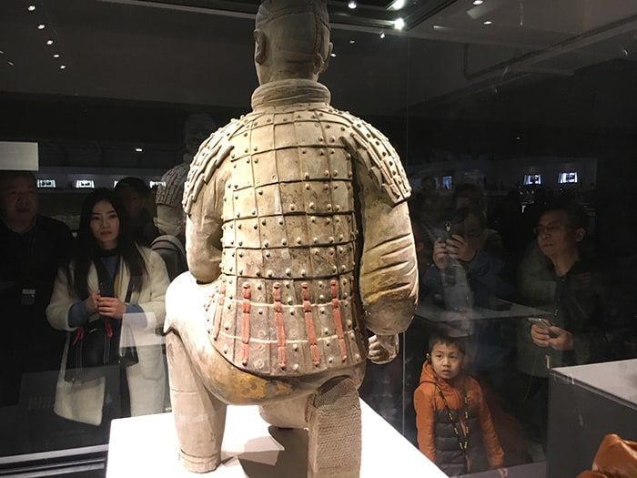 archer warrior in terracotta army museum