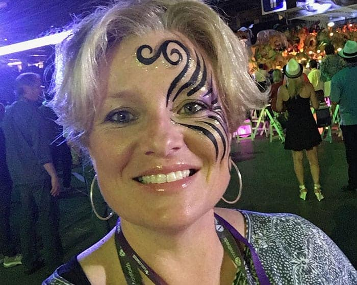 Megan with face painted
