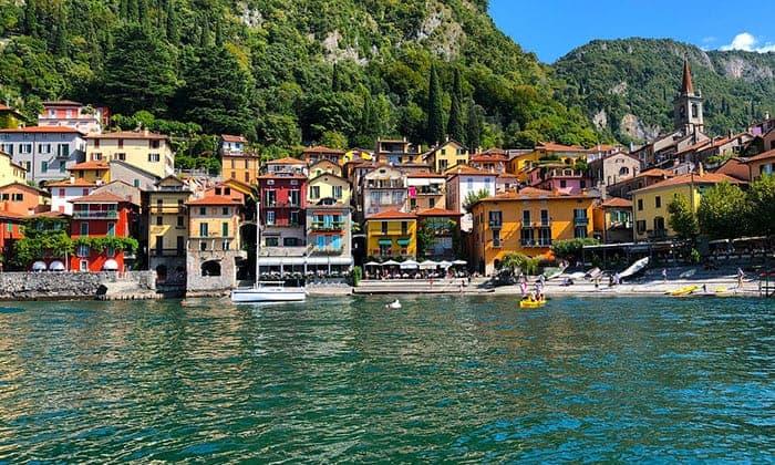 Lake Como Italy from lake