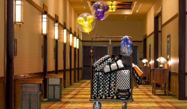 Disney luggage in hotel