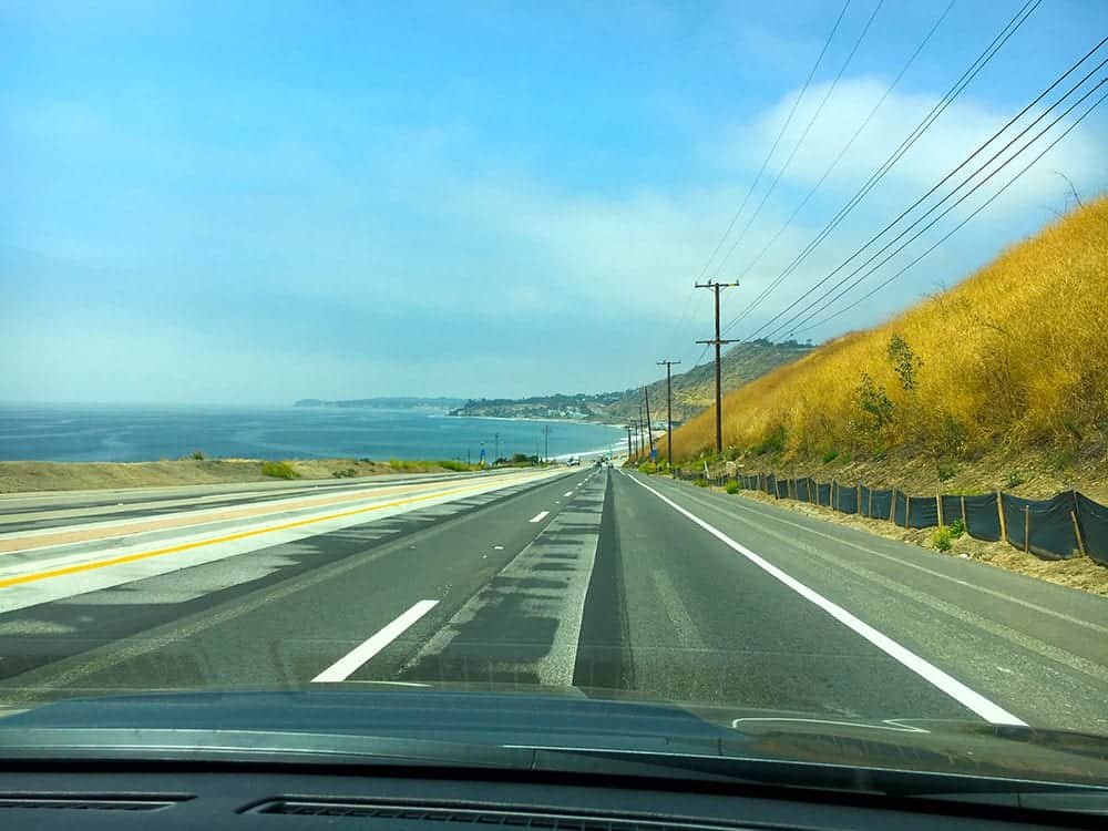 Driving Pacific Coast Highway to Santa Barbara