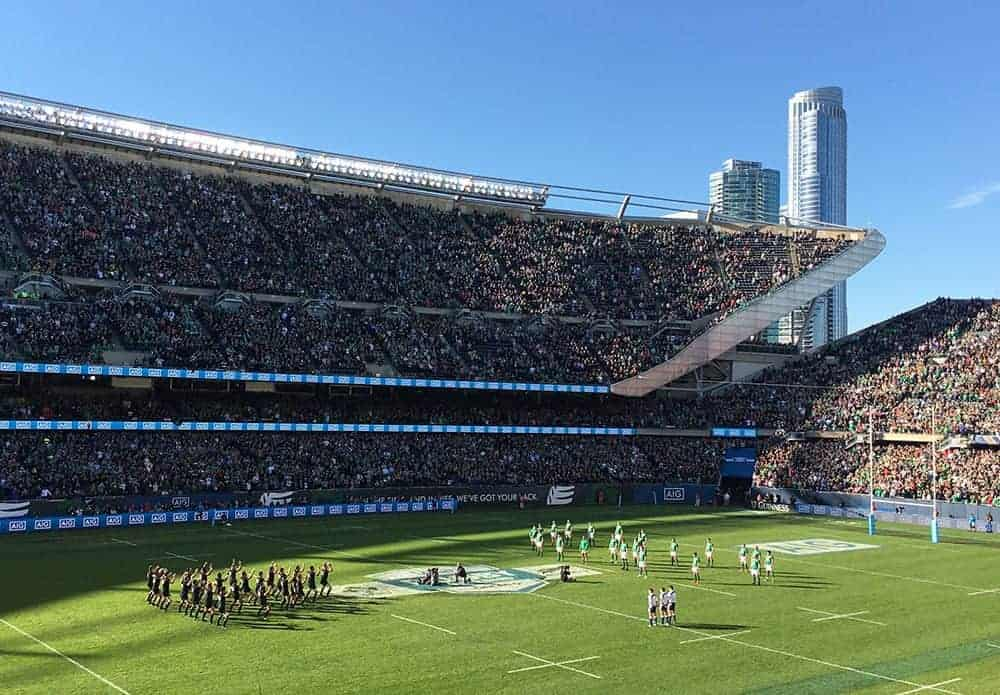 All Blacks haka performed against Ireland in Chicago