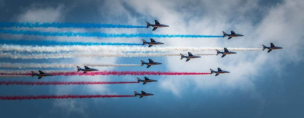 The Bastille Day flyover of Paris