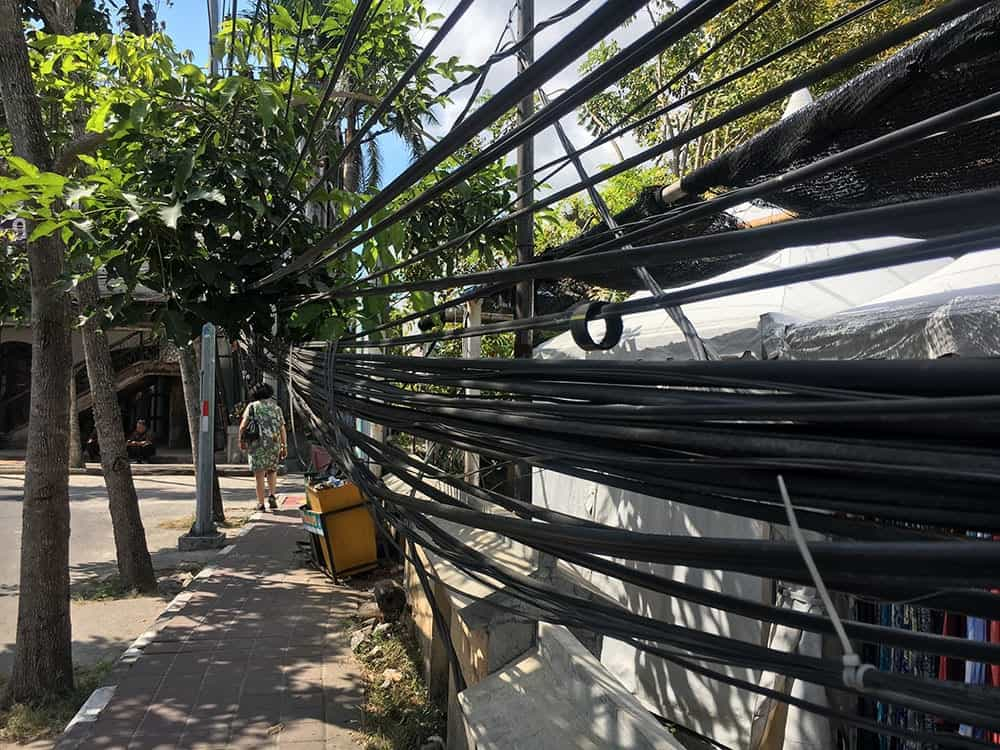 Power lines in Seminyak