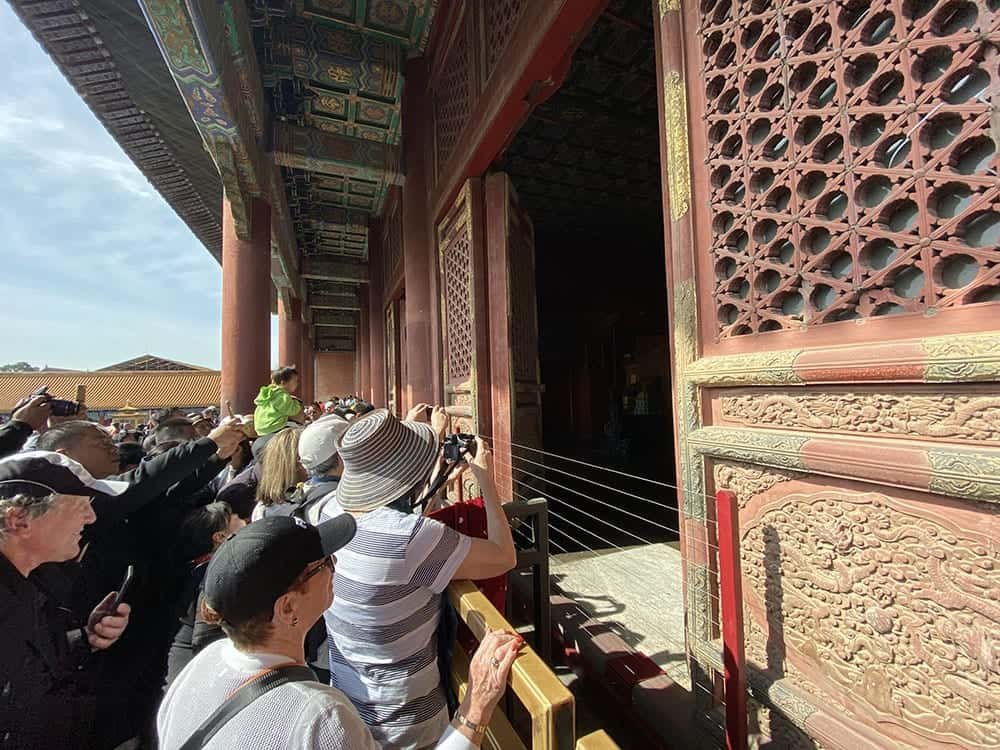 photos inside the buildings in the Forbidden City