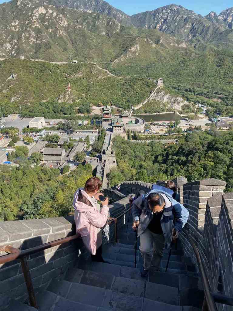 Walking poles on the great wall of china