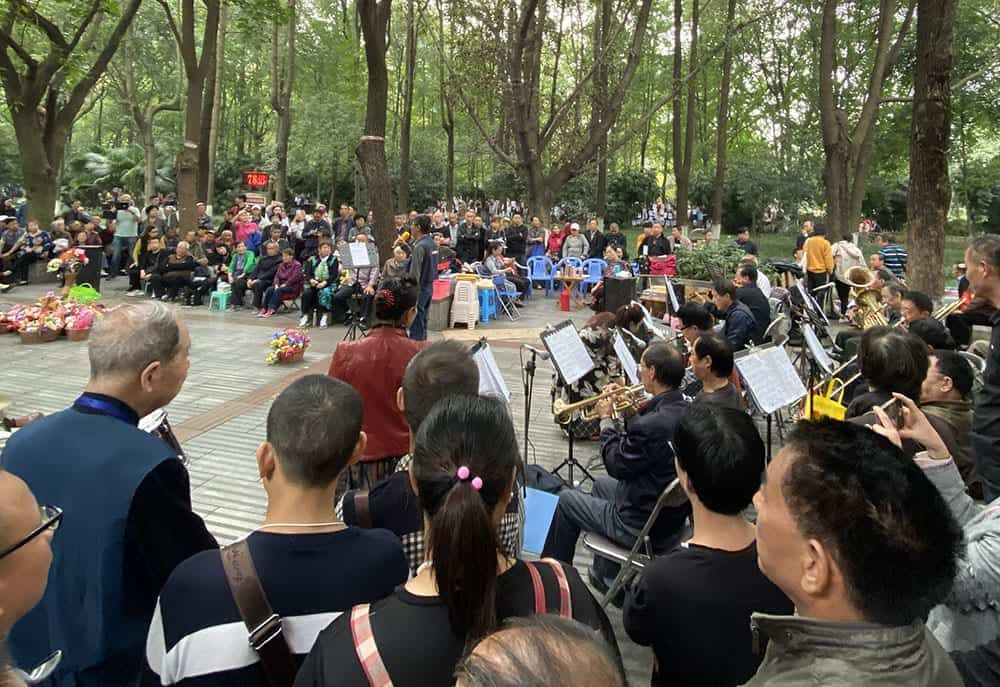 Music in People's Park Chengdu