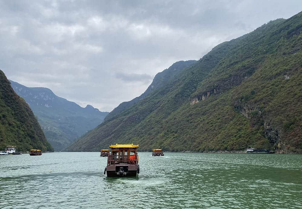 Our side excursion down the Wu Shan river