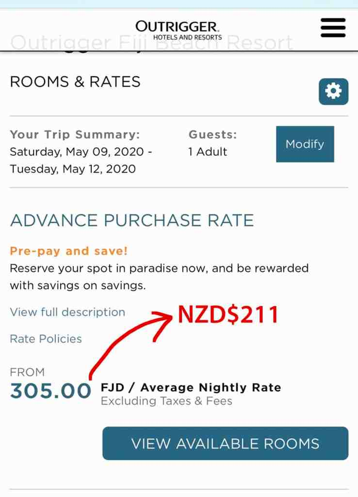 Comparing hotel website for best price