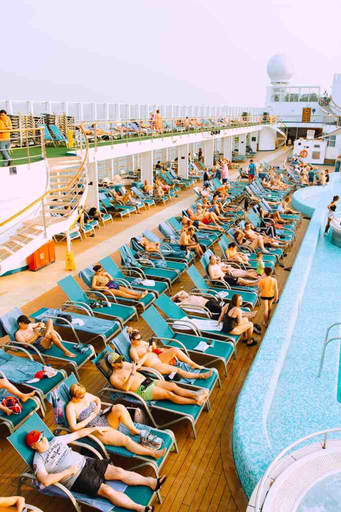 Beside pool on a cruise
