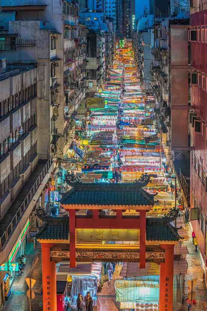 Temple Street night market Hong Kong