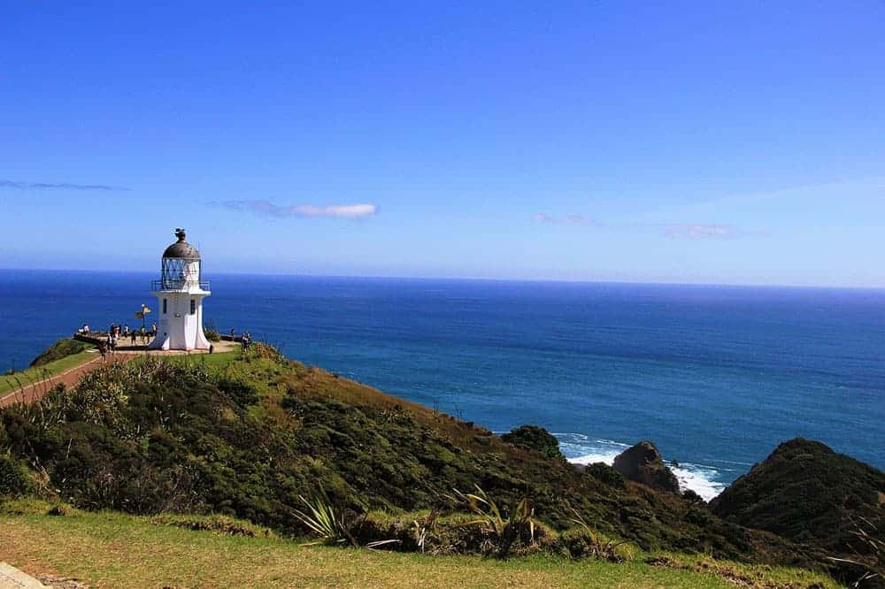 Cape Reinga lighthouse at the tip of New Zealand