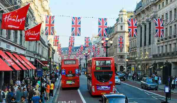 Red buses London