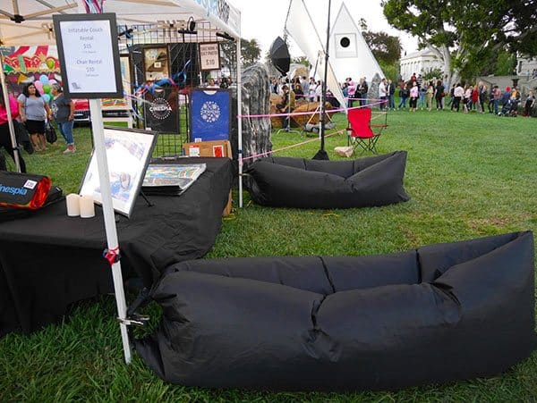 Hollywood Forever air couches for hire