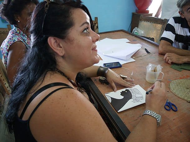 Artist in community project cuba