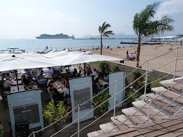 Cannes beach bar
