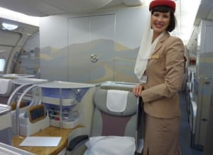 Emirates A380 business class seat