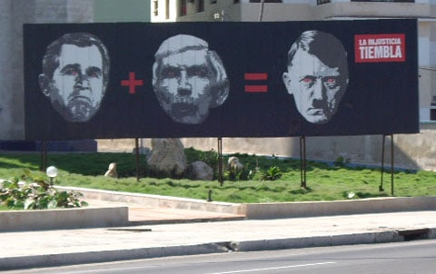 Cuba George Bush billboard