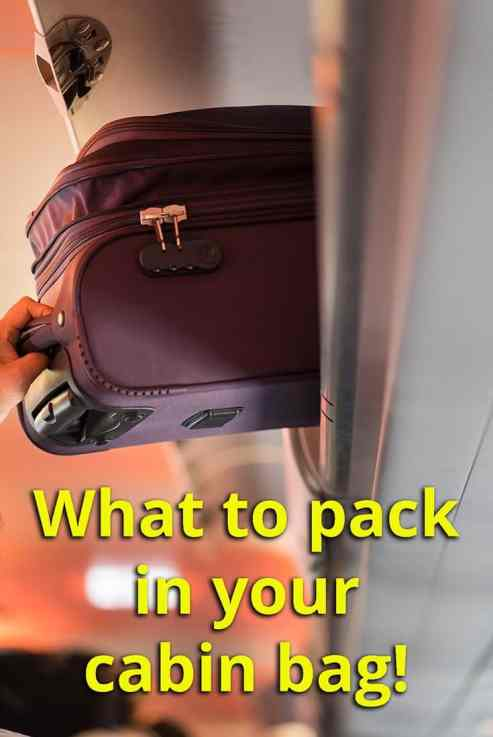 Tips for packing cabin bag