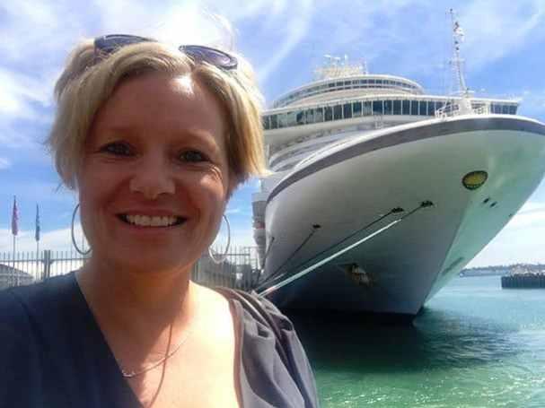 Cruise ship at dock