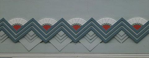 Art deco motif Napier
