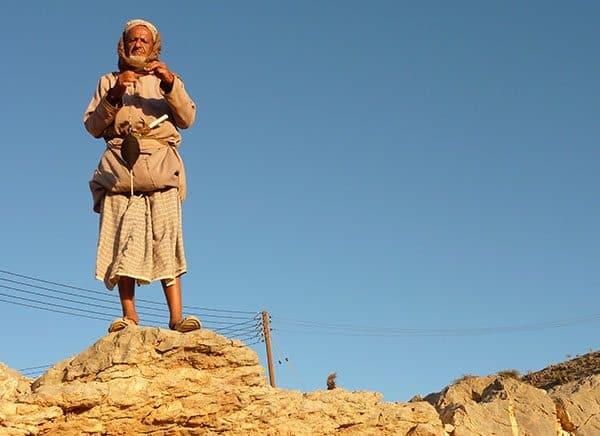 oman desert man