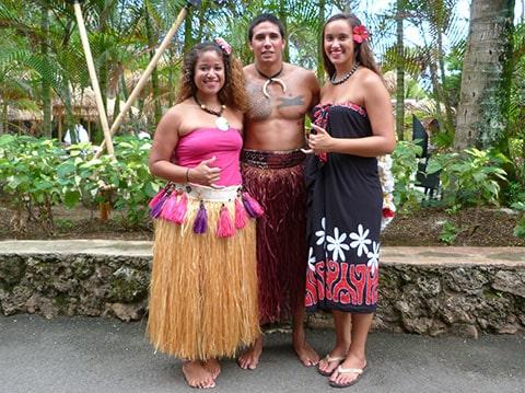Polynesian village, Hawaii
