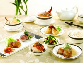 Singapore Airlines Chinese food