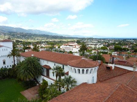 Santa Barbara rooftops