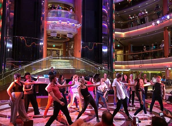 Vision of the Seas flash mob