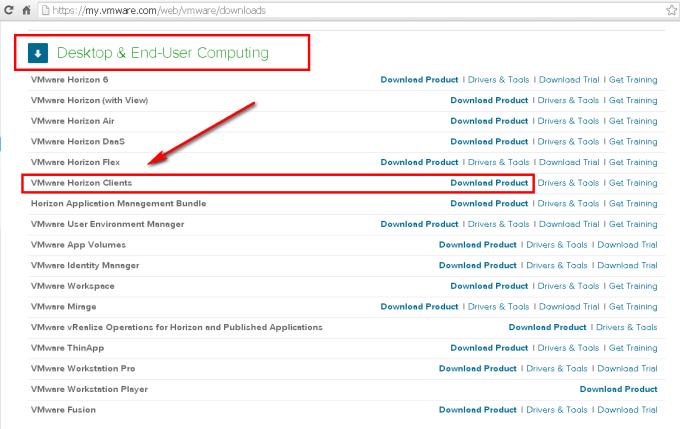 VMware View Client Download
