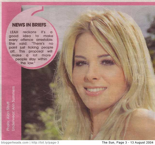 Page 3 and the News in Briefs lie exposed  Bloggerheads