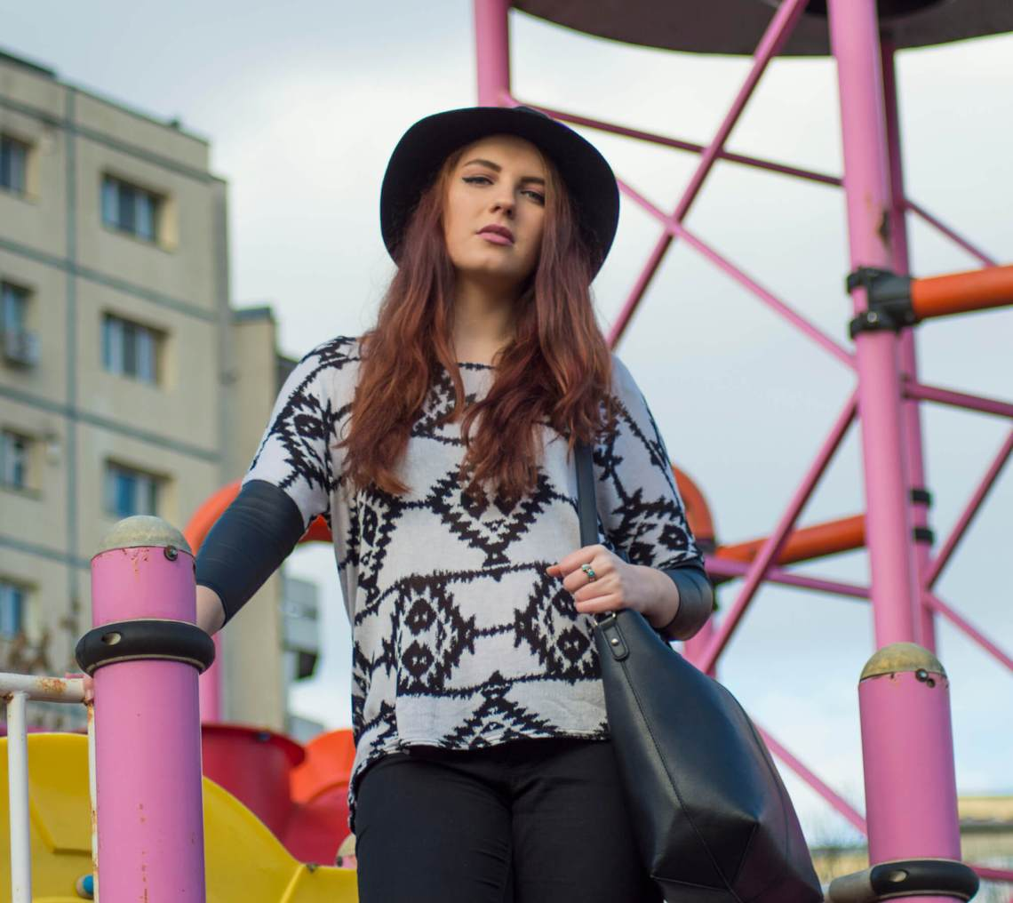 spring outfit - black and white urban look (10)