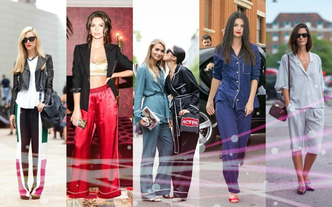 breaking the fashion rules - streetstyle pajamas