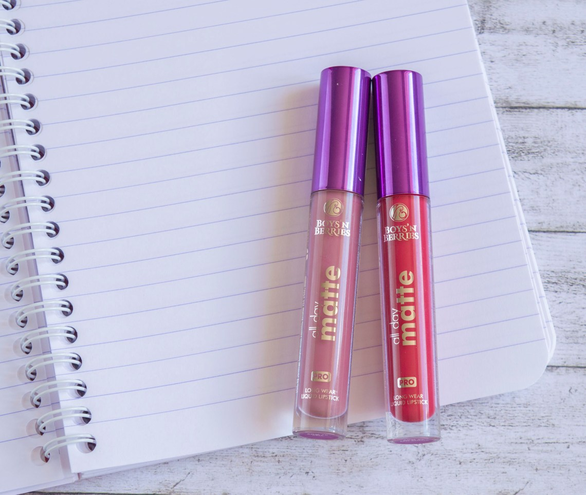 Boys'n'Berries All Day Matte Liquid Lipsticks - Aria and Red Sonja 1