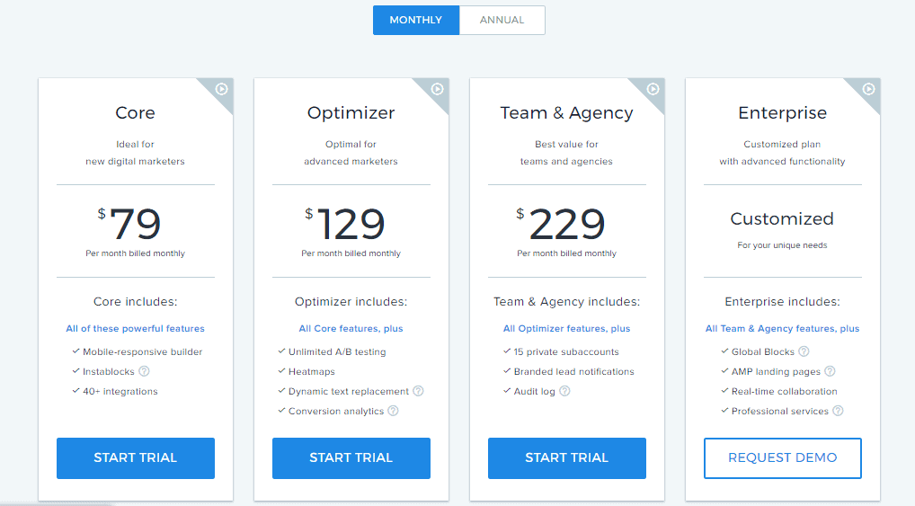 instapage pricing