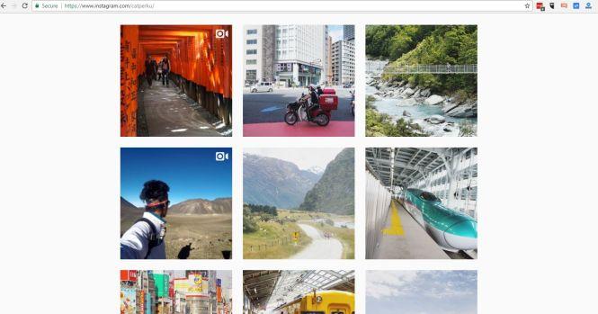 Buka Instagram dengan Google Chrome