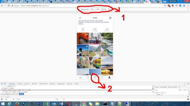 Voila! Tampilan berubah seperti aplikasi Instagram di ponsel pintar kalian