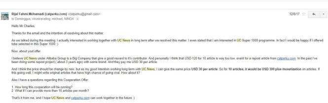 reply to UC news