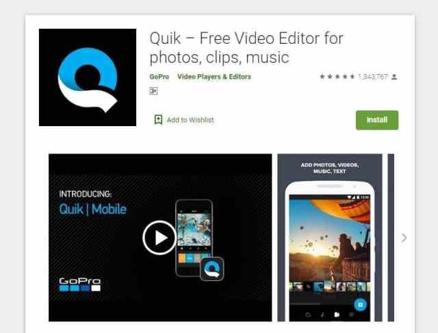 Quik adalah aplikasi Android edit video tanpa watermark terbaik gratis yang bisa dicoba.