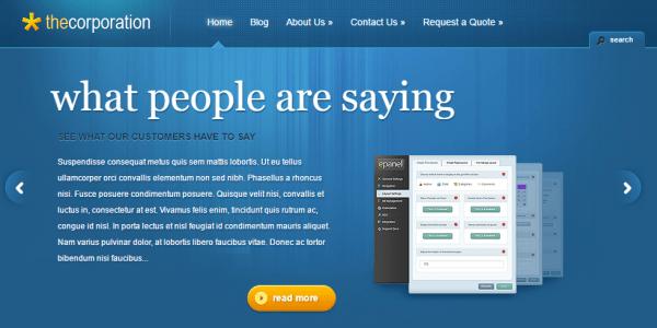 business wordpress template