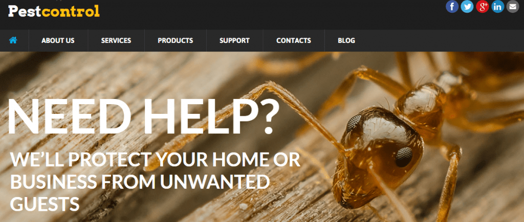 pest control html template