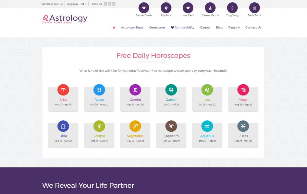 Astrology responsive WordPress theme