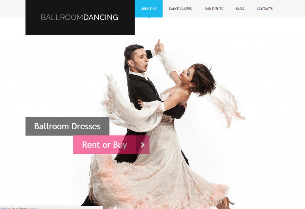 Dance Studio Attractive WordPress Template
