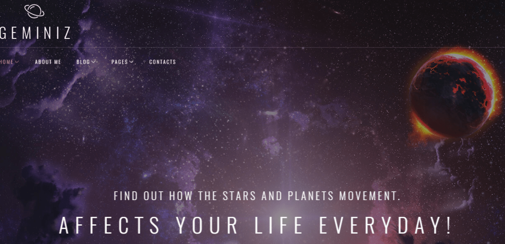 Astrology Blog Theme