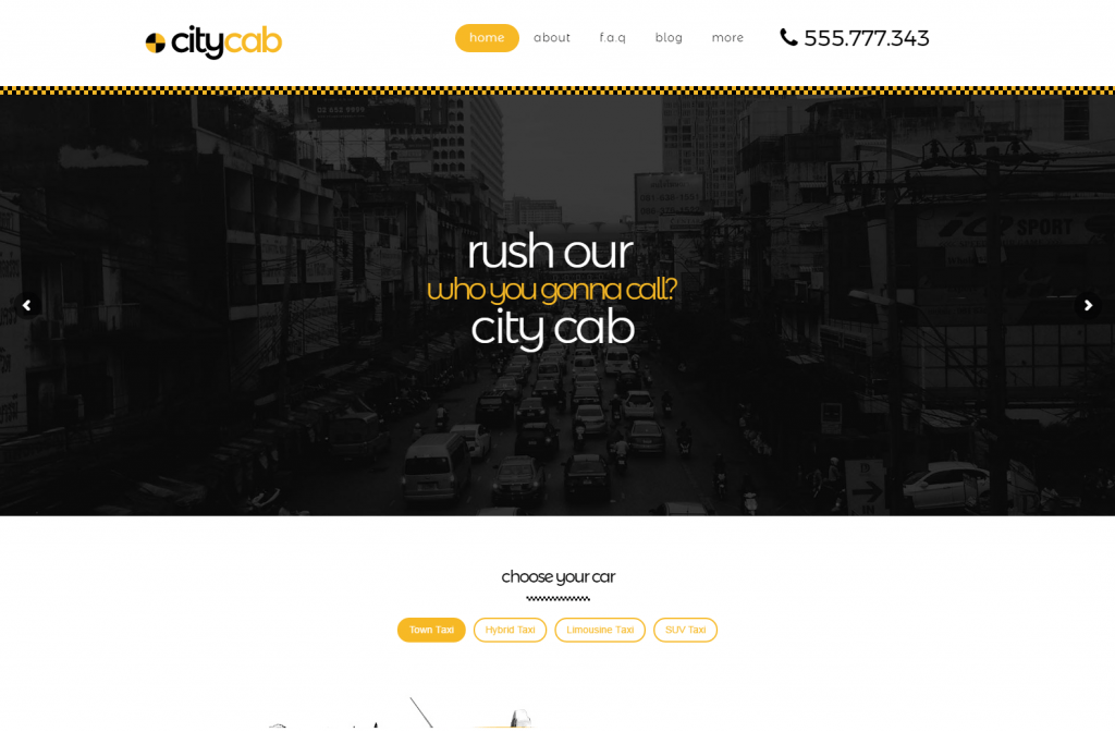 citycab Cab Booking WordPress Theme