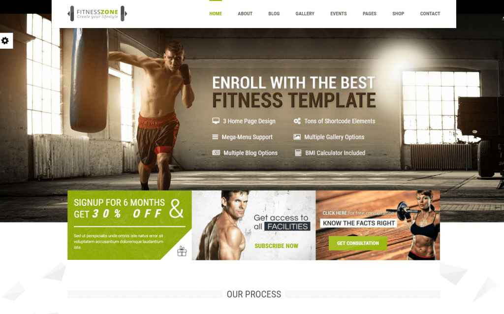 Fitness Zone - Gym and Fitness Theme