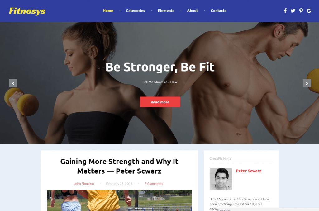 Fitnesys - Responsive Gym and Fitness WordPress Theme