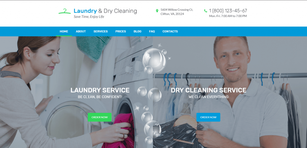 laundry responsive wordpress theme