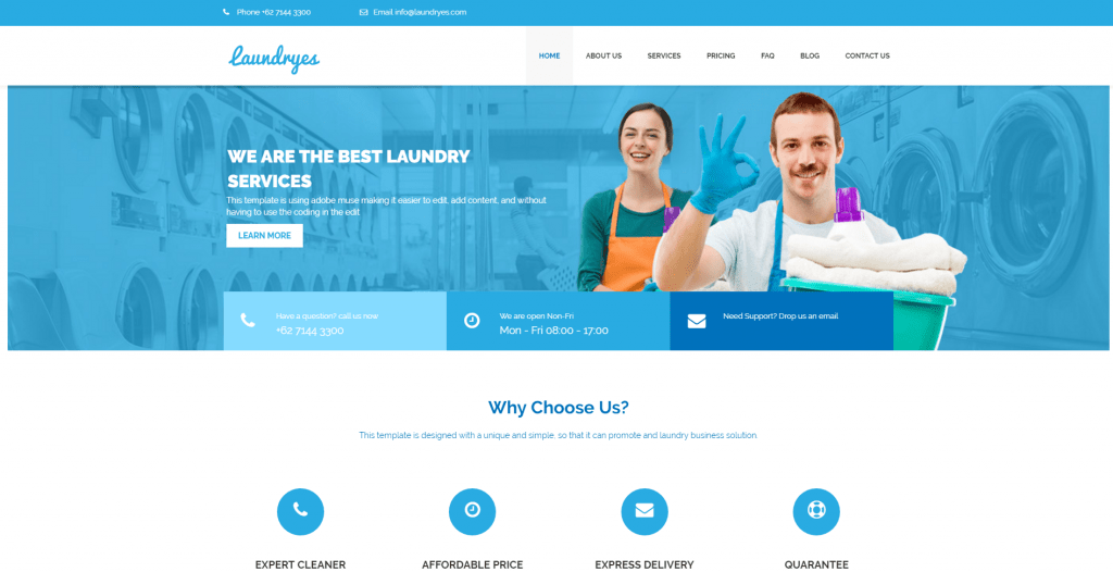 laundryes laundry wordpress theme